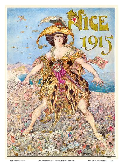Nice Carnival 1915-Gustav-Adolf Mossa-Art Print