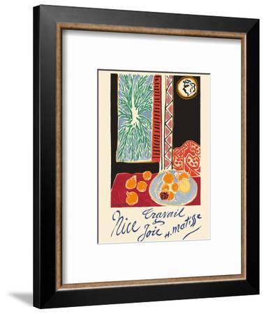 Nice, France - Travail et Joie (Work and Joy) - Still Life with Pomegranates-Henri Matisse-Framed Art Print