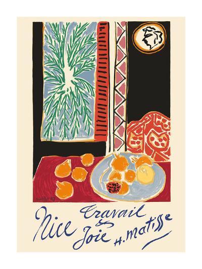 Nice, France - Travail et Joie (Work and Joy) - Still Life with Pomegranates-Henri Matisse-Premium Giclee Print