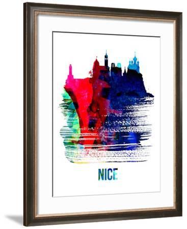 Nice Skyline Brush Stroke - Watercolor-NaxArt-Framed Art Print