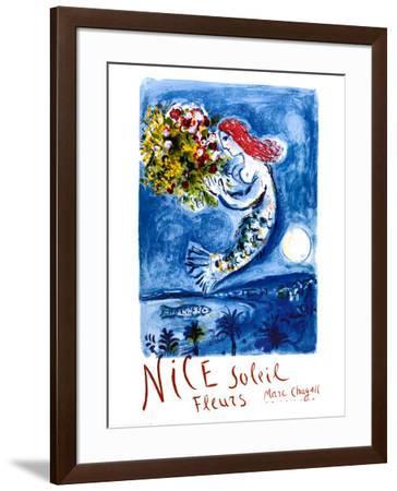 Nice Sun Flowers-Marc Chagall-Framed Art Print