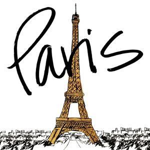 Gold Eiffel in Paris by Nicholas Biscardi