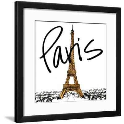 Gold Eiffel in Paris