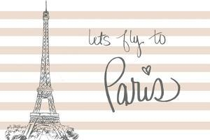 Let's Fly to Paris on Pink by Nicholas Biscardi