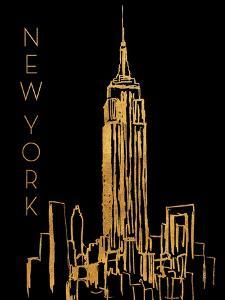 New York on Black by Nicholas Biscardi