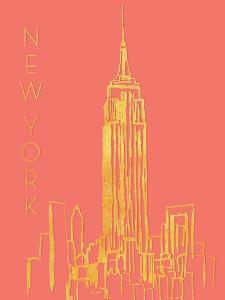 New York on Coral by Nicholas Biscardi