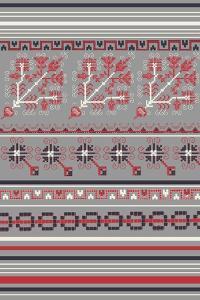 Nordic Cross Stitch Gray by Nicholas Biscardi