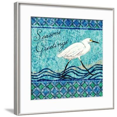 Snowy Egret Season's Greeting I