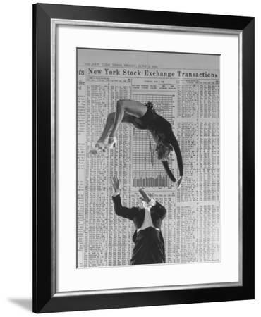 Nicholas Darvas Illustrating Successful Career on Stock Market in Dance with Half Sister Julia-Walter Sanders-Framed Premium Photographic Print