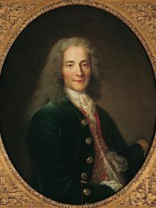 Portrait of Voltaire after 1718 by Nicholas De Largilliere
