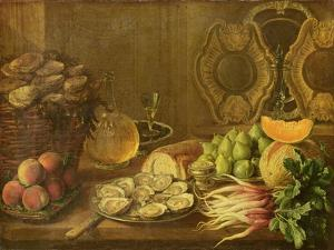 A Still Life with Oysters and Fruit by Nicholas Desportes