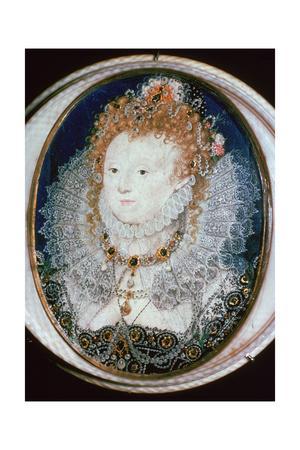 Miniature portrait of Queen Elizabeth I, 16th century