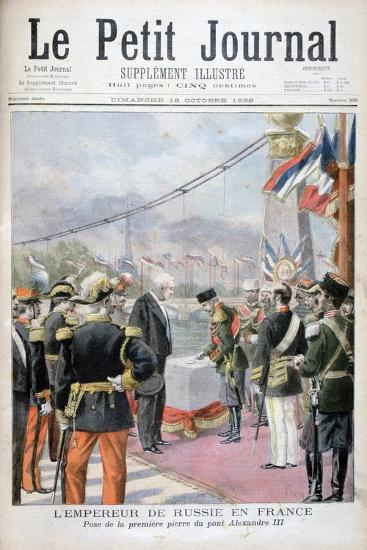 Nicholas II of Russia and Félix Faure, President of the French Republic, 1896-Oswaldo Tofani-Giclee Print