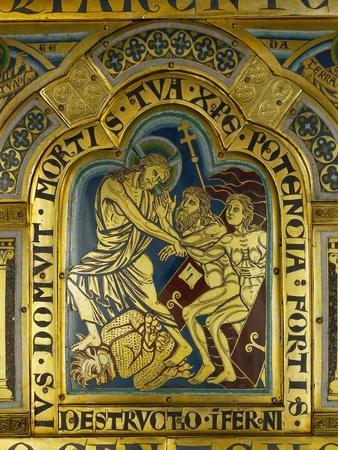 Christ's Descent into Hell, Enamel, Verdun Altar, Begun 1181