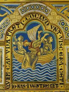 Jonah and the Whale, Verdun Altar, Begun 1181, Enamel by Nicholas of Verdun