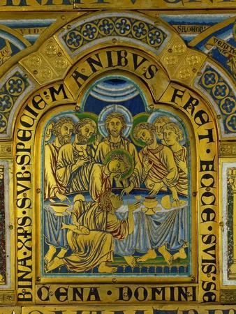 Last Supper, from the Verdun Altar, Enamel in Champleve Technique on Gilded Copper, Begun 1181