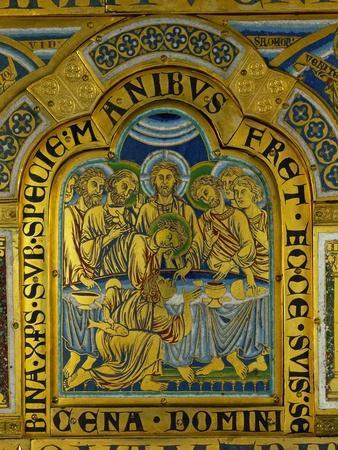 Last Supper, from the Verdun Altar, Enamel in Champleve Technique on Gilded Copper, Begun 1181