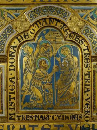 The Adoration of the Magi, Enamel, Verdun Altar, Begun 1181