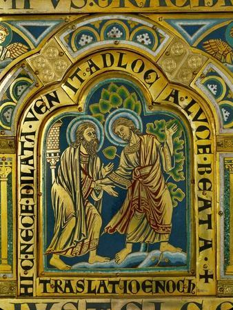 The Translation of Enoch, Verdun Altar, Begun 1181, Enamel