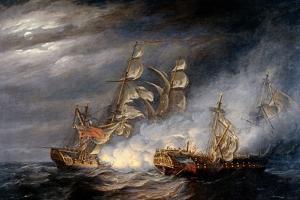 Capture of La Virginie by H.M. Ship Indefatigable by Nicholas Pocock