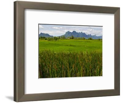 Peaks in Khao Sam Roi Yot National Park across Fields