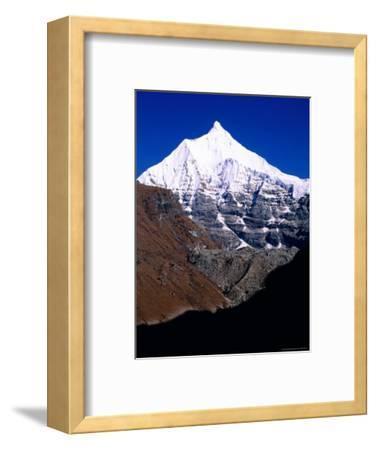 Snow-Capped Mountain Peak, Jichu Drakye, Bhutan