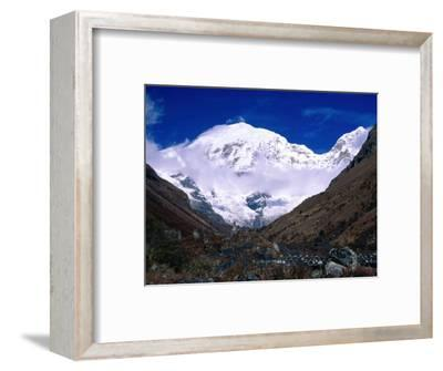 Snow-Covered Mountain Peak, Jhomolhari, Bhutan