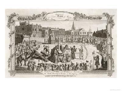 Nicholas Ridley Bishop of London and Hugh Latimer Bishop of Worcester Burnt by Catholics at Oxford--Giclee Print