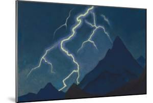 Call of the Heaven. Lightning, 1935-1936 by Nicholas Roerich