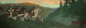 Morning Hunt of Grand Prince, 1901 by Nicholas Roerich
