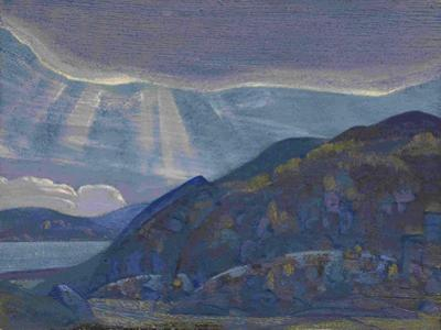 Rocks and Cliffs (From the Series Ladog), 1917-1918 by Nicholas Roerich