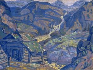 Stage Design for the Theatre Play Peer Gynt by H. Ibsen, 1912 by Nicholas Roerich