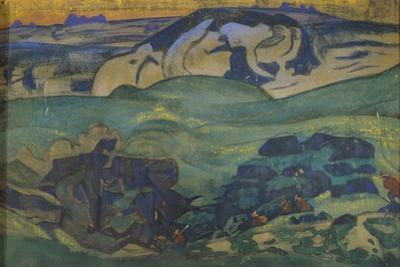 Tchud Tribe Gone Underground, 1913 by Nicholas Roerich