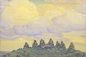 The Great Sacrifice. Stage Design for the Ballet the Rite of Spring (Le Sacre Du Printemp), 1910 by Nicholas Roerich