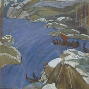 The Varangian Way, 1904 by Nicholas Roerich