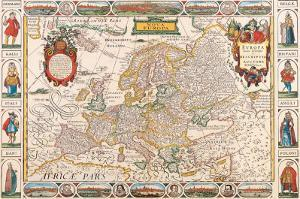 Antique Map, Nova Europa, 1652 by Nicholas Visscher