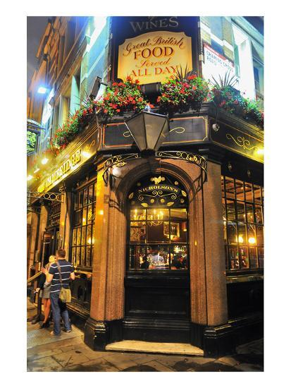 Nicholson Pub, London, South of England, United Kingdom of Great Britain--Art Print
