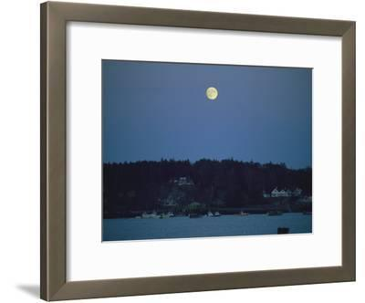Moonrise over the Coastline of Friendship, Maine