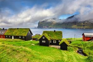 Village of Mikladalur Located on the Island of Kalsoy, Faroe Islands, Denmark by Nick Fox