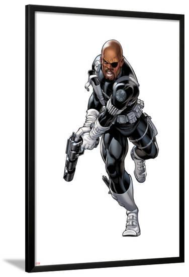 Nick Fury with a Gun--Lamina Framed Poster