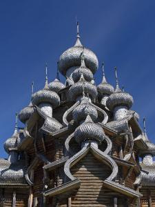 Karelia, Lake Onega, Kizhi Island, Roof of the Church of the Transfiguration, Russia by Nick Laing