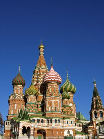 Moscow, Red Square, St Basil's Cathedral, Russia