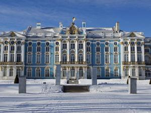 St Petersburg, Tsarskoye Selo, Catherine Palace Was Commissioned by the Empress Elizabeth, Russia by Nick Laing