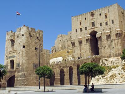 Syria, Aleppo; Entrance to the Citadel