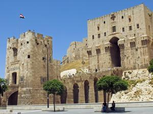 Syria, Aleppo; Entrance to the Citadel by Nick Laing