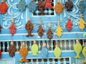 Tunisia, Tunis, Sidi-Bou-Said; Tourist Souvenirs by Nick Laing