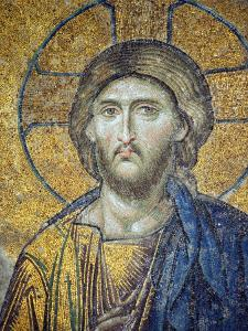 Turkey, Istanbul, Hagia Sophia; Detail from the Deesis Mosaic by Nick Laing