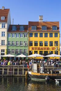 Denmark, Hillerod, Copenhagen. Colourful Buildings Along the 17th Century Waterfront of Nyhavn. by Nick Ledger