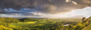 United Kingdom, England, North Yorkshire. a Clearing Storm over Sutton Bank. by Nick Ledger