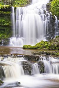 United Kingdom, England, North Yorkshire, Settle, Scaleber Force in Summer. by Nick Ledger